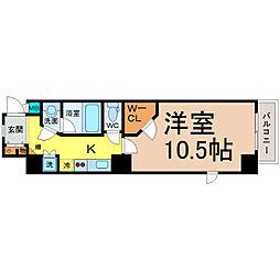 愛知県名古屋市東区大幸4丁目の賃貸マンションの間取り