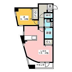愛知県名古屋市南区豊1丁目の賃貸マンションの間取り
