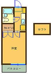 セレンディピティ[205号室]の間取り