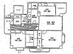 白鷹松下町マンション[5階]の間取り