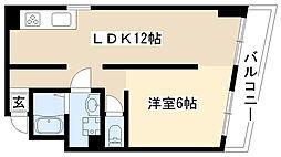 愛知県名古屋市昭和区緑町3丁目の賃貸マンションの間取り