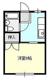 吉岡コーポ[203号室]の間取り
