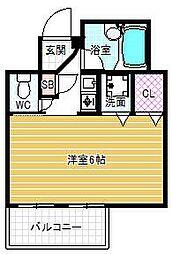 セレッソコート梅田東[7階]の間取り