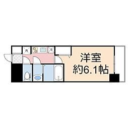 プレサンス THE TENNOJI 逢阪トゥルー 4階1Kの間取り