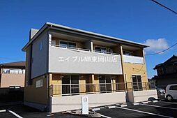 岡山県岡山市中区四御神丁目なしの賃貸アパートの外観