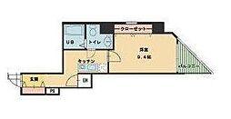 ヴィレ新宿御苑[1階]の間取り