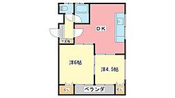 フタバマンション[3階]の間取り