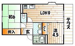 ソレジオ井堀[1階]の間取り