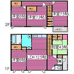 [一戸建] 北海道札幌市北区篠路八条2丁目 の賃貸【/】の間取り