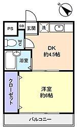 サンノーブル壱番館[2階]の間取り