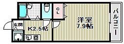 ルーチェI番館[4階]の間取り