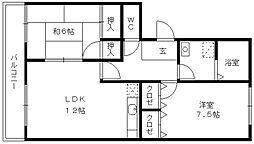 M.N.R KOKUBU[103号室]の間取り