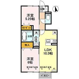D-roomフラワー[105号室]の間取り