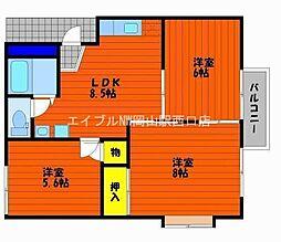 コーポ山陽 C棟[2階]の間取り