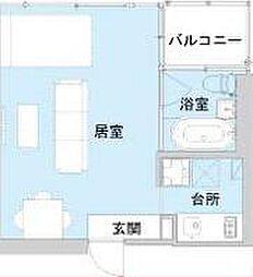 アクアプレイス大阪レジェンドII[7階]の間取り