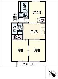 ジュエルコート安田B棟[1階]の間取り