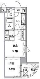 アクタス天神III[6階]の間取り