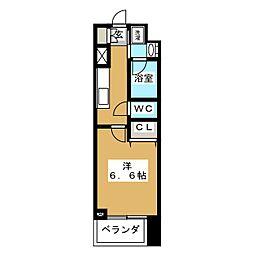 ZOOM横浜関内 10階1Kの間取り