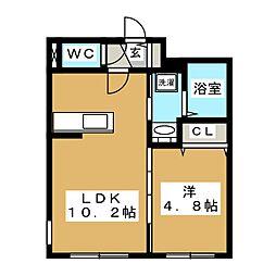 Luxe Maruyama(ラグゼマルヤマ)[1階]の間取り