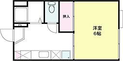 ジュピター山崎[101号室]の間取り