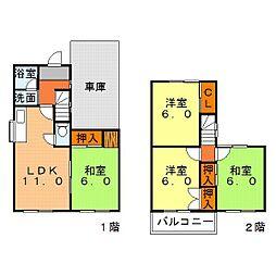 [一戸建] 兵庫県姫路市新在家本町1丁目 の賃貸【/】の間取り