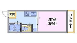 ニューハイムB[2階]の間取り
