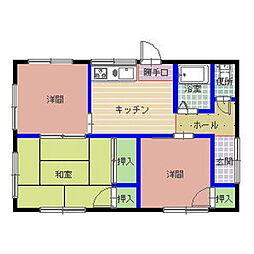 [一戸建] 茨城県水戸市中丸町 の賃貸【/】の間取り