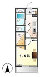 レオパレス名楽[2階]の間取り