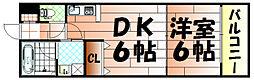 KN21白銀[306号室]の間取り