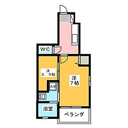 グランドソレーユ[1階]の間取り