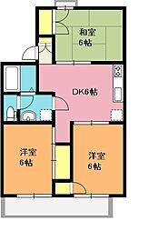 ハイツUUI[1階]の間取り