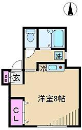 東京都北区王子本町1丁目の賃貸アパートの間取り