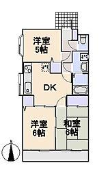 パサージュマンション[2階]の間取り