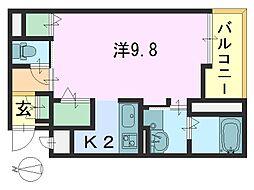カーサ・ドマーニ2[2階]の間取り