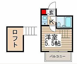 キティン亀有[3階]の間取り