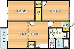 エスポワール浅川[2階]の間取り
