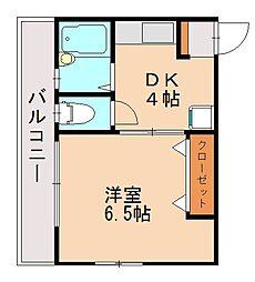 コーポシマダ[2階]の間取り