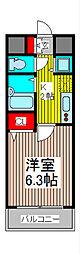 アクシーズタワー川口栄町I[8階]の間取り