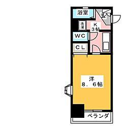 X−OVER 21覚王山[7階]の間取り