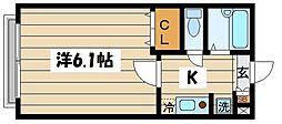 東京都葛飾区西水元1丁目の賃貸マンションの間取り