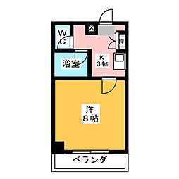 シャイン名藤[3階]の間取り