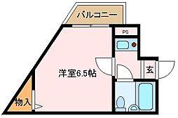 大阪府堺市中区学園町の賃貸マンションの間取り