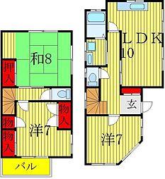 [一戸建] 千葉県松戸市栗ヶ沢 の賃貸【/】の間取り
