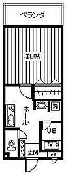 サンライト城山[106号室]の間取り