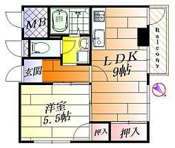 ナンノ第5号館[5階]の間取り