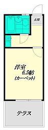 パラゼット南長崎[101号室]の間取り