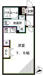 LUORE新江古田 2階ワンルームの間取り