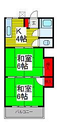 新山ハウス[1階]の間取り