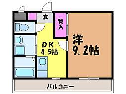 愛媛県松山市和泉北1丁目の賃貸マンションの間取り