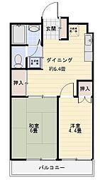 ローヤルマンション熊谷[302号室]の間取り